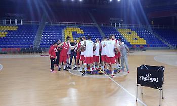 Η προπόνηση του Ολυμπιακού στη Βαρκελώνη (video)