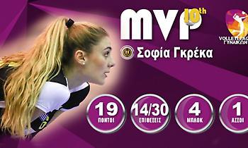 Πολυτιμότερη της Volley League γυναικών η Γκρέκα