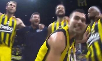 Τρελοί πανηγυρισμοί από τους παίκτες της Φενέρ μετά τη νίκη επί της ΤΣΣΚΑ (video)