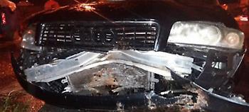 Κρήτη: Κατολίσθηση προκάλεσε τροχαίο στην Ε.Ο. Χανίων - Ρεθύμνου (pics)