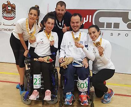 Χρυσό μετάλλιο για τα ζευγάρια BC3 στο Παγκόσμιο Κύπελλο του Ντουμπάι