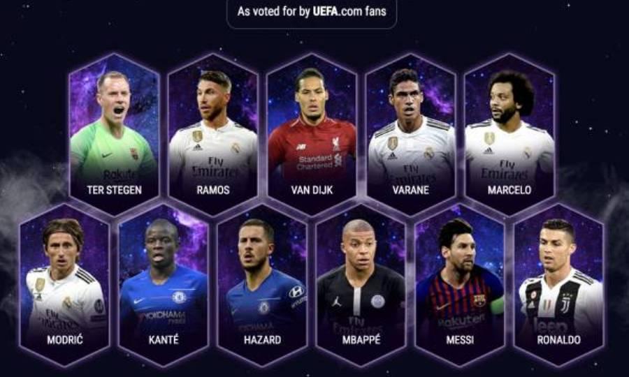 Αυτή είναι η καλύτερη ομάδα του 2018 σύμφωνα με την UEFA