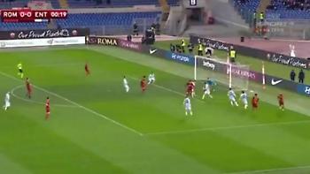 Γκολ με 6 πάσες και τακουνάκι στα 20 δευτερόλεπτα η Ρόμα (video)