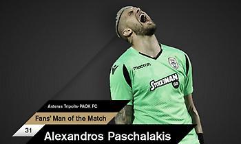 MVP του ΠΑΟΚ στην Τρίπολη ο Πασχαλάκης