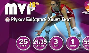 Πολυτιμότερη στη Volley League η Χουντ-Σκοτ