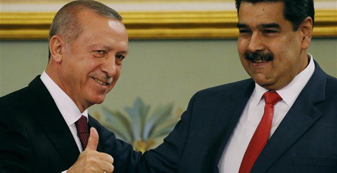 Ερντογάν σε Μαδούρο: Αδελφέ μου είμαστε στο πλευρό σου
