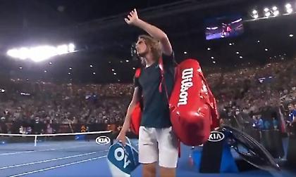 Αποθεώθηκε στο «αντίο» του από το Australian Open ο Τσιτσιπάς (video)