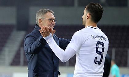 Μανούσος: «Για τη νίκη με την ΑΕΚ, δύσκολο να παίζεις σε τέτοια γήπεδα»