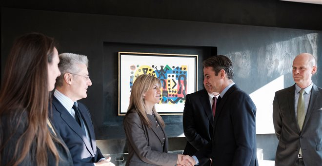 Συνάντηση Μητσοτάκη-εκπροσώπων γερμανικών επιχειρήσεων