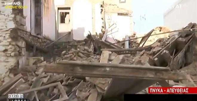 Ακατοίκητο σπίτι κατέρρευσε στην Πνύκα, στην τουριστική καρδιά της Αθήνας