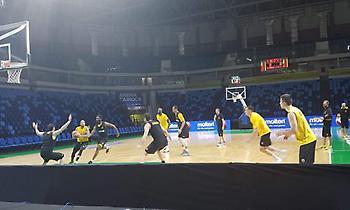 Προπονήθηκε στο Carioca Arena 1 η ΑΕΚ (pics)