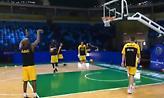 Η προθέρμανση της ΑΕΚ στο Carioca Arena 1 (video)
