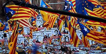 Ισπανία: 200.000 διαδηλωτές κατά της δίκης των αυτονομιστών ηγετών