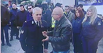 Διαμαρτυρία αστυνομικών έξω από Διεύθυνση Διαχείρισης Χρηματικού Αστυνομίας