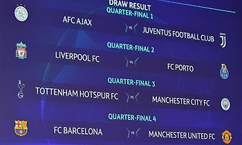 Το ακριβές πρόγραμμα των «8» στο Champions League