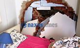 Έπεσε βράχος σε σπίτι στη Νάξο – Σώθηκε από θαύμα η ένοικος