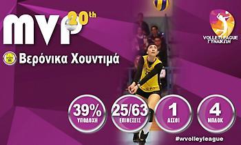 Πολυτιμότερη η Χουντιμά στη Volley League