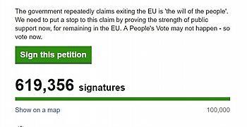 Πάνω από 600.000 υπογραφές σε λίγες ώρες για την ακύρωση του Brexit