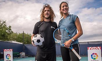 Παιχτάρα και στο τένις ο Πουγιόλ (video)
