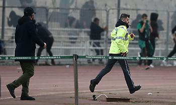 «Οριστική διακοπή θα διατάξει ο διαιτητής… (π.χ. βόμβα στο γήπεδο)»!!!