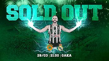 Sold out το Παναθηναϊκός-Ρεάλ!