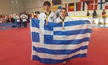 Χάλκινο μετάλλια για τους Ξυλά/Κολοβό στο Ευρωπαϊκό Πρωτάθλημα Poomsae τάε-κβον-ντο