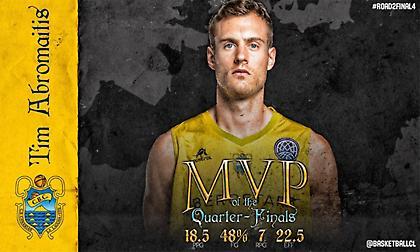 MVP των προημιτελικών του BCL ο Αμπρομάιτις!