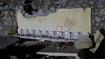 Τεράστιος βράχος έπεσε σε ποδοσφαιρικό γήπεδο (pics)