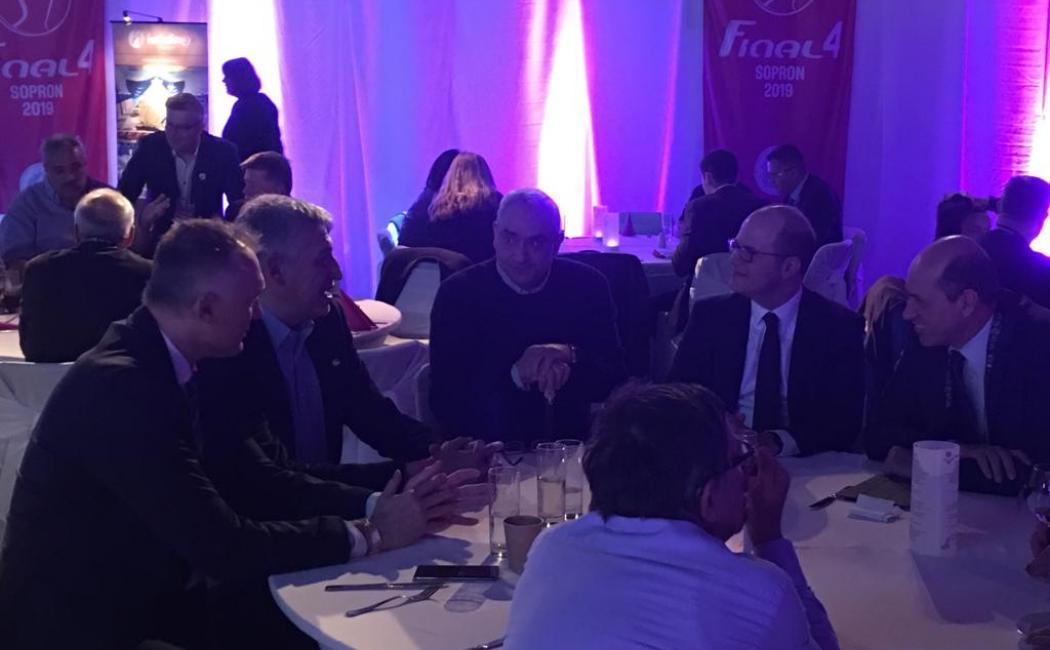 Συνάντηση Λεριώτη και Φασούλα με Ζαγκλή και άλλα κορυφαία στελέχη FIBA