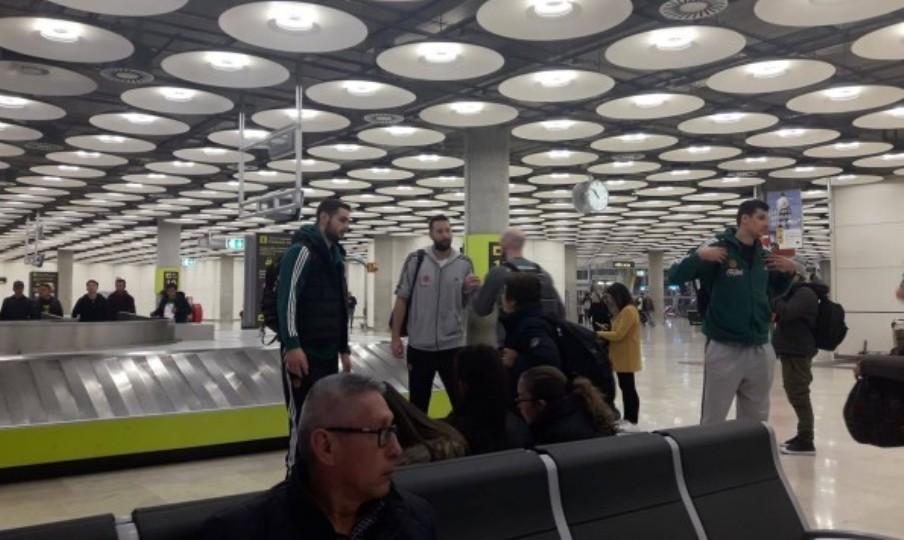 Έφτασε χωρίς απρόοπτα στη Μαδρίτη ο Παναθηναϊκός