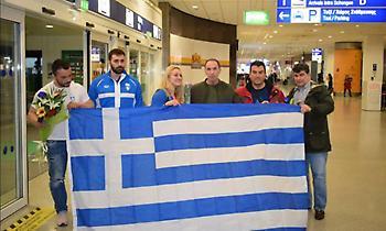 Η υποδοχή της θριαμβευτικής ελληνικής αποστολής άρσης βαρών