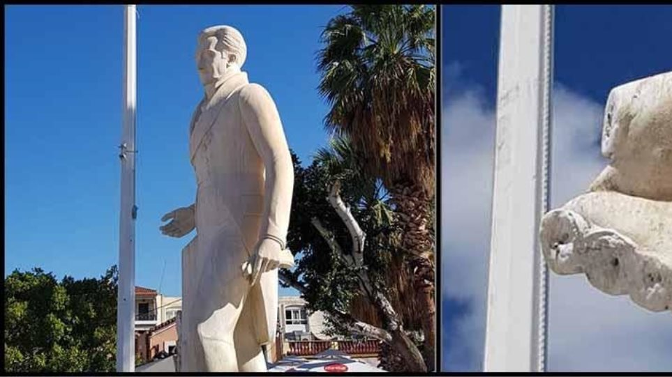 Βανδάλισαν ξανά το άγαλμα του Καποδίστρια στο Ναύπλιο