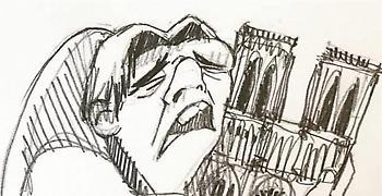 Η ιστορία του συγκινητικού σκίτσου με Κουασιμόδο και Παναγία των Παρισίων