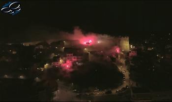 Το εντυπωσιακό πάρτι των οπαδών του ΠΑΟΚ (Drone)