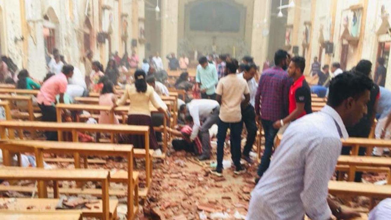 Εικόνες-σοκ από τις βομβιστικές επιθέσεις στη Σρι Λάνκα
