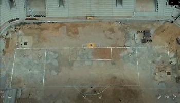 «Οριοθετήθηκε» ο αγωνιστικός χώρος στο νέο γήπεδο της ΑΕΚ (pic/video)