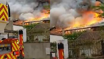 Γαλλία: Μεγάλη φωτιά στις Βερσαλλίες