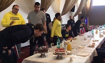 Η τούρτα-έκπληξη της Φενέρ στον Βέσελι (video)