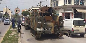 Αρμα μάχης «έμεινε» στη μέση του δρόμου στη Χαλκίδα - Απίστευτες εικόνες