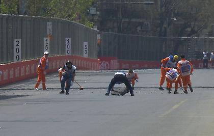 Διακόπηκε για απίθανο λόγο η FP1 στο Μπακού! (video)