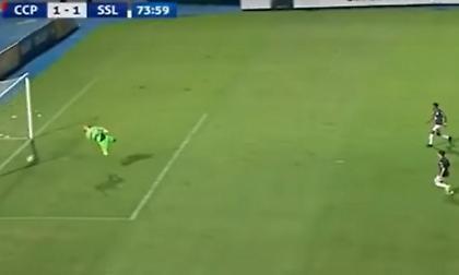 Μέτρησε γκολ στην Παραγουάη που η μπάλα ήταν ένα μέτρο έξω (video)