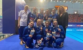«Χάλκινη» η Εθνική συγχρονισμένης κολύμβησης  στο Champions Cup