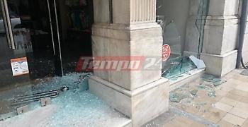 Γυαλιά - καρφιά το κέντρο της Πάτρας - Έσπασαν με ρόπαλα 12 καταστήματα