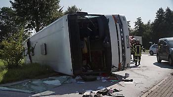 Τροχαίο με λεωφορείο στη Γερμανία με νεκρό και τραυματίες