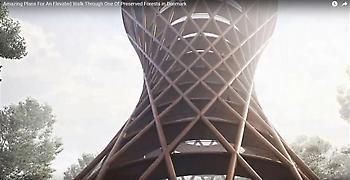 Εντυπωσιακός ελικοειδής πύργος σε δάσος της Δανίας (video)