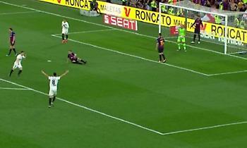 Το 1-0 της Βαλένθια κόντρα στην Μπαρτσελόνα (video)