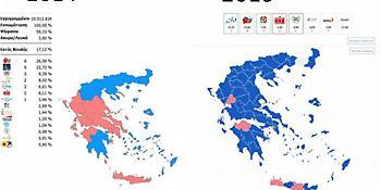 Αποτελέσματα Ευρωεκλογών 2019: Τι είχαν δείξει οι κάλπες το 2014 και τι σήμερα -Πώς άλλαξε ο χάρτης