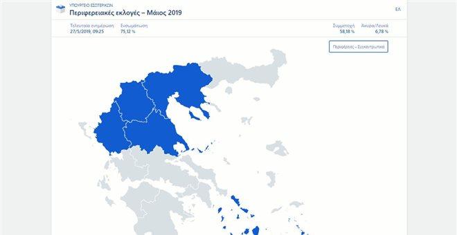 Περιφέρειες: Ποιοι προηγούνται-Σε ποιες θα χρειαστεί β γύρος