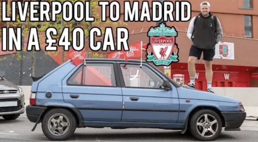 Ήρωας ο οπαδός της Λίβερπουλ, πήγε στον τελικό και γύρισε στην Αγγλία με αυτοκίνητο 40 λιρών! (vid)