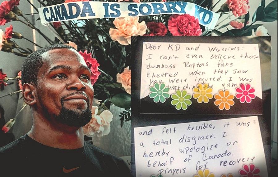 Φίλοι των Ράπτορς έστειλαν λουλούδια και ζήτησαν συγγνώμη σε Ντουράντ